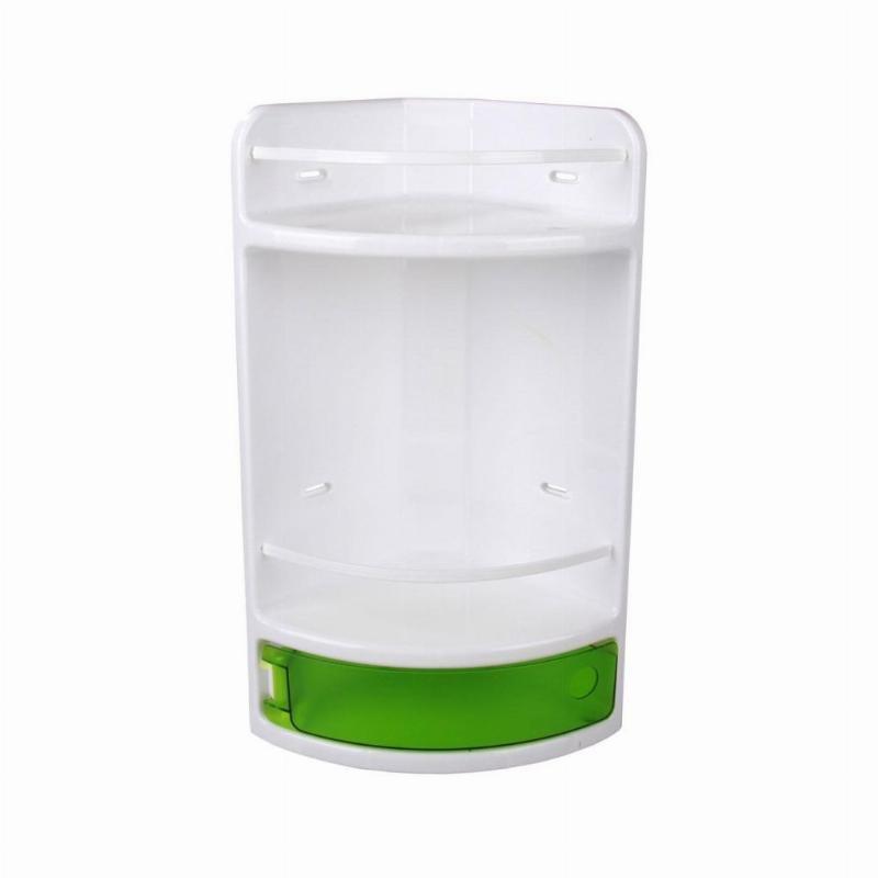 Полка для ванной комнаты угловая зеленая