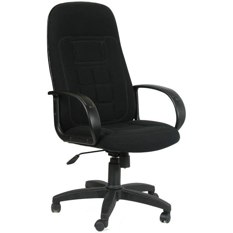 Кресло руководителя Chairman 727 PL с подлокотниками ткань черное