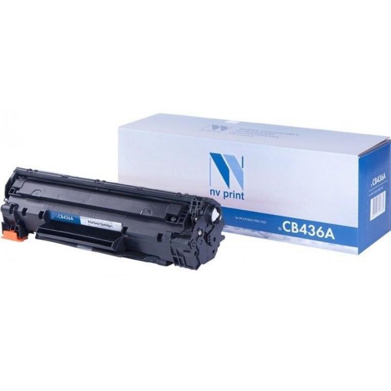 Картридж для HP LJ P1505/M1120/P1006/P1102/M1132/M12212 CB436A  2000стр черный NV-Print
