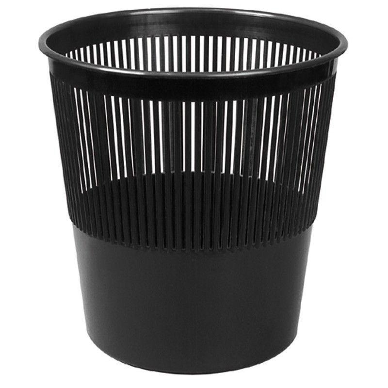 Корзина для бумаг 10л сетчатая черная