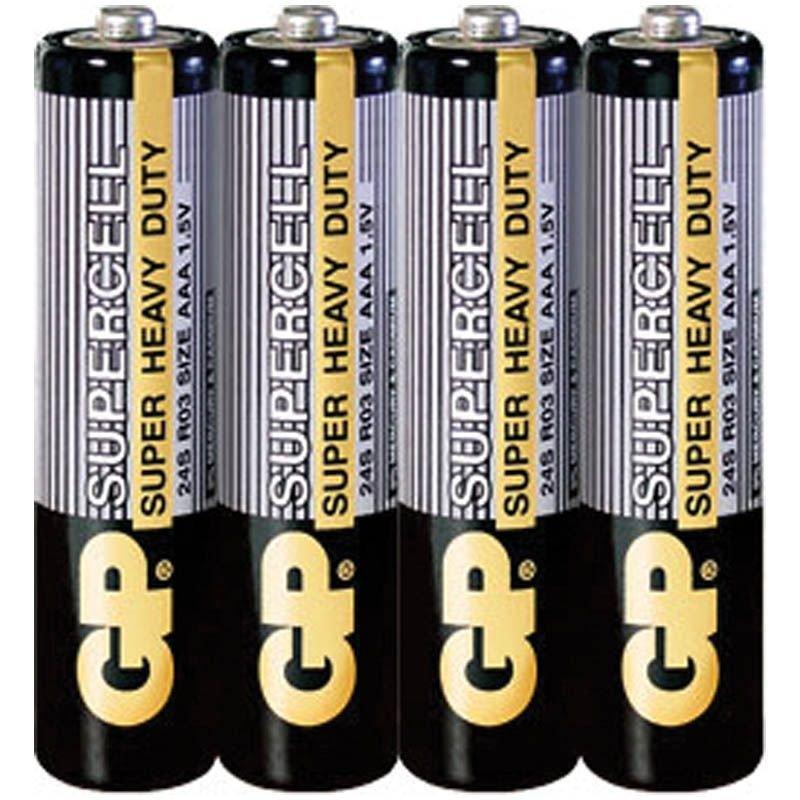 Батарейка GP Supercell -  Power Plus R03 солевой