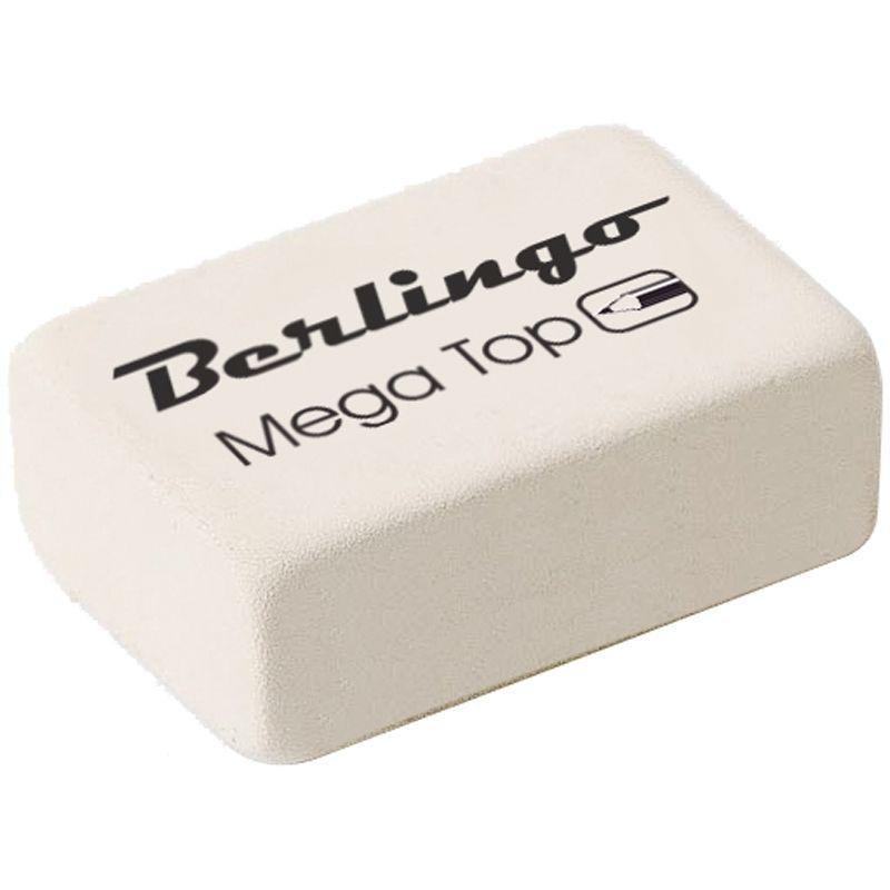 Ластик Berlingo Mega Top 26х18х8мм прямоугольный натуральный каучук
