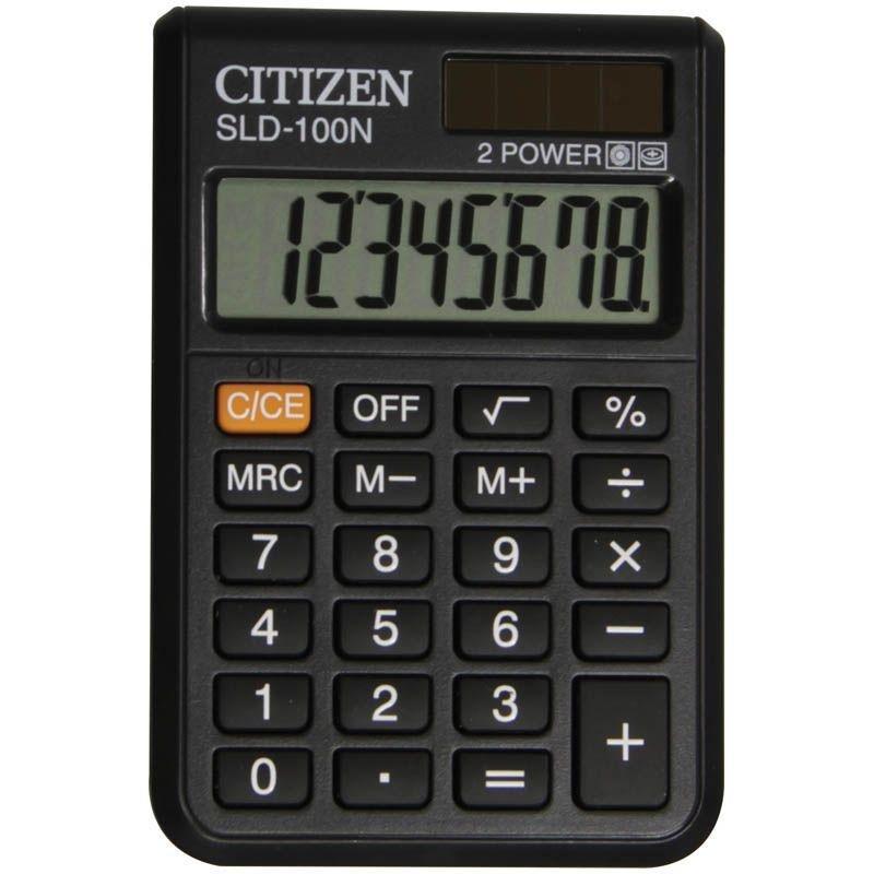 Калькулятор Citizen SLD-100N 90х60мм 8 разр. карманный