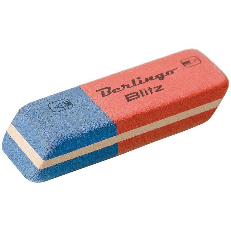 Ластик Berlingo Blitz 42х14х8мм прямоугольный натуральный каучук