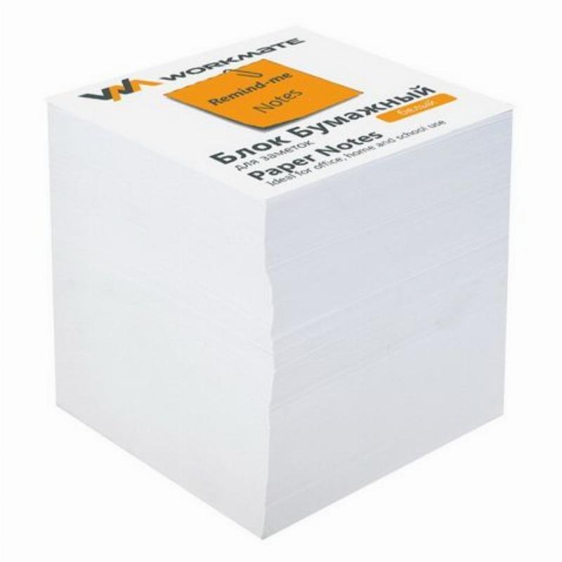 Блок для записей 90х90х90мм Workmate белый запасной