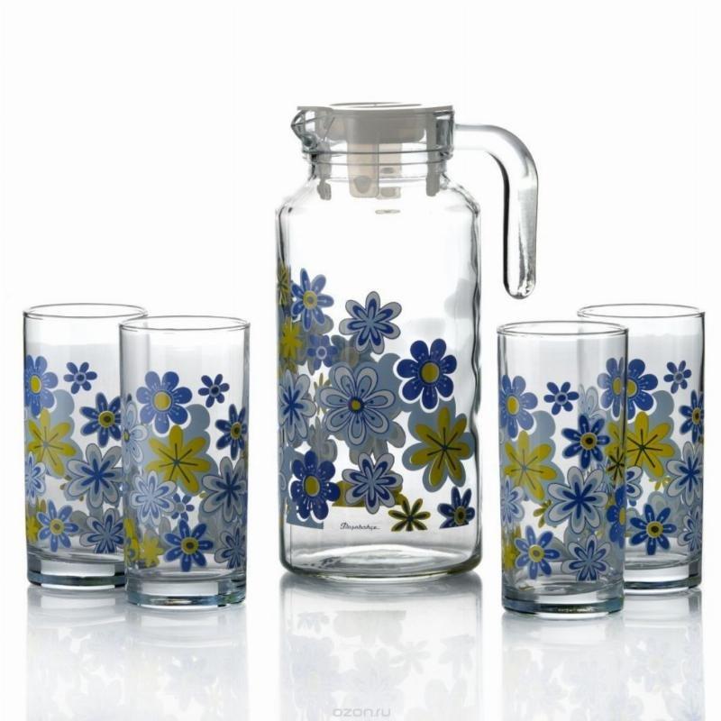 Набор кувшин стаканы Спринг стекло 5пр