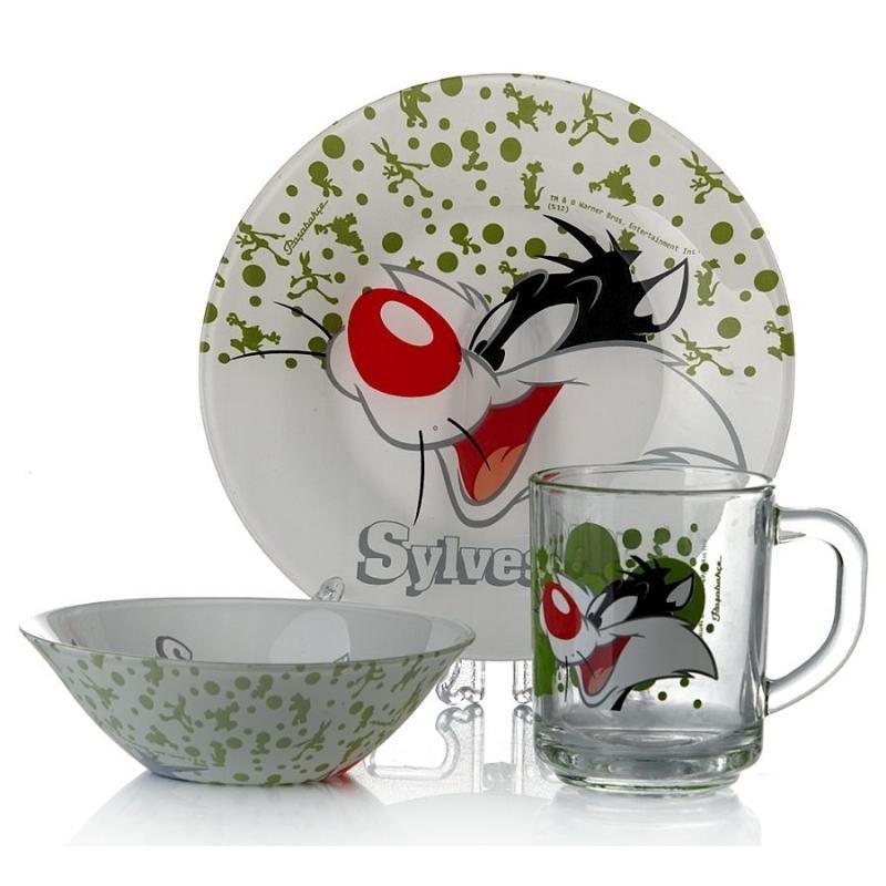 Набор детской посуды Уорнер Бразерс Сильвестр Pasabahce