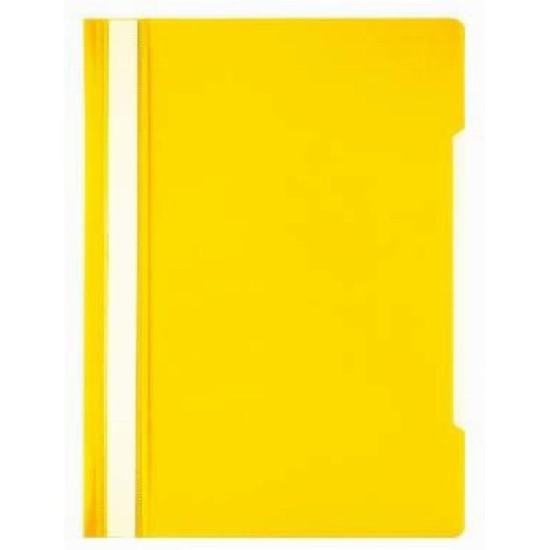 Папка с прозрачным верхним листом Бюрократ Эко 120мкм желтая