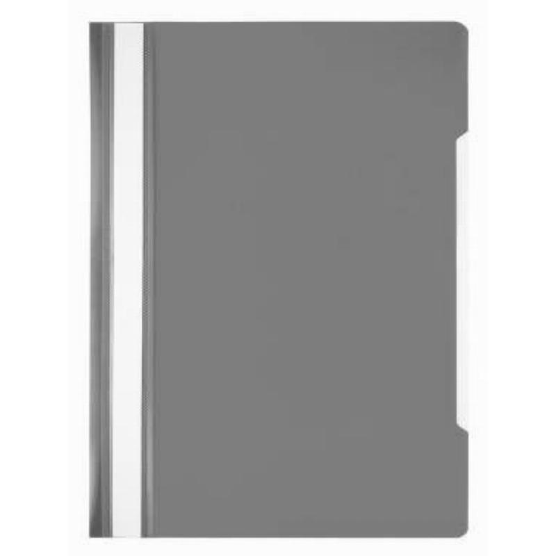 Папка с прозрачным верхним листом Бюрократ Эко 120мкм серая