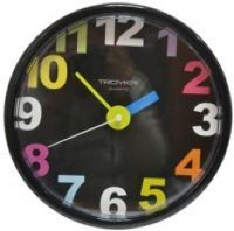 Часы настенные В-Тройка 91900918 круг черные 290мм