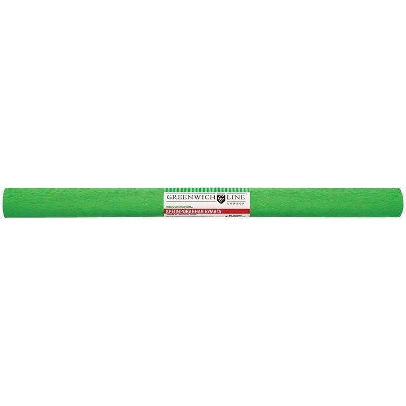 Бумага поделочная креп 50x250см светло-зеленая в рулоне