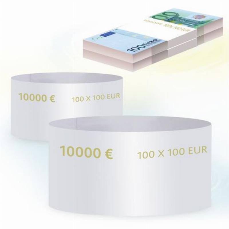 Кольцо бандерольное 100 евро 500шт/уп