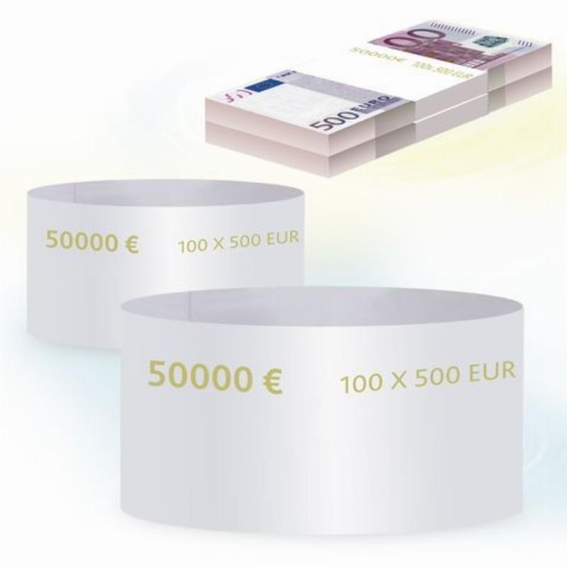 Кольцо бандерольное 500 евро 500шт/уп