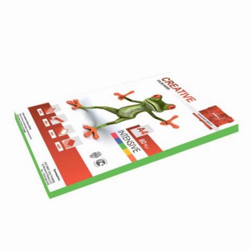 Бумага Creative color А4 80г/м2 100л интенсивно-зеленая