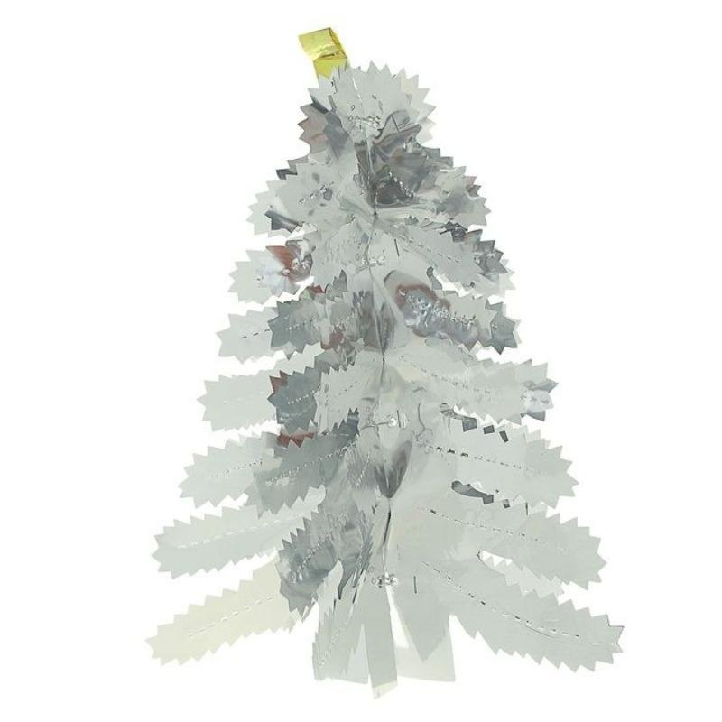 Новогоднее украшение Елка фольга 38х15см