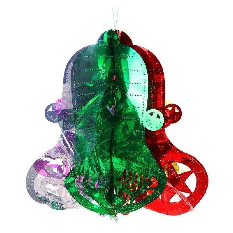 Новогоднее украшение фонарик Колокольчик 40х22см