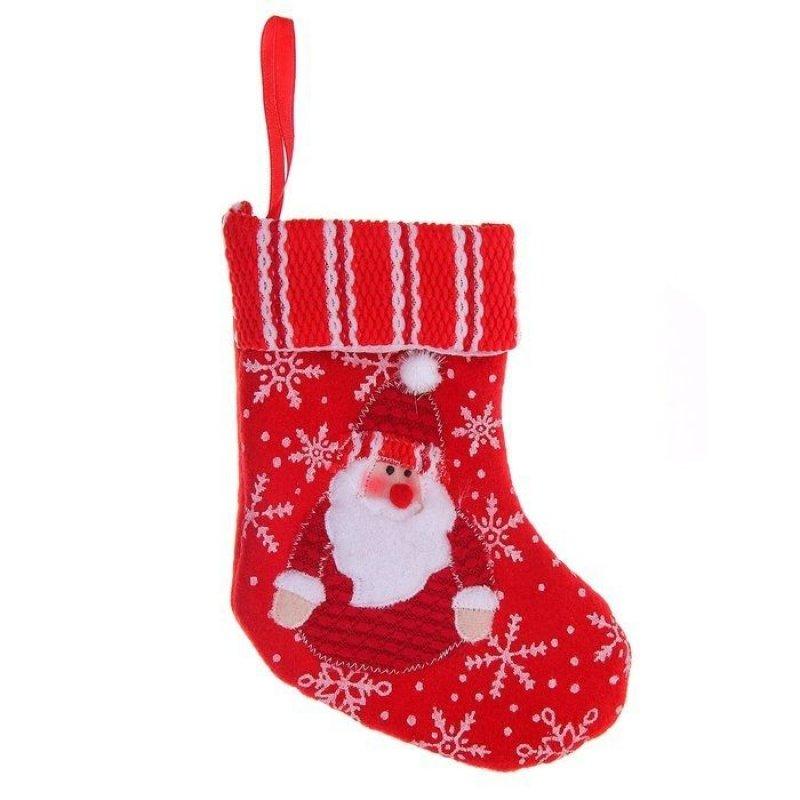 Носок для подарков 17х12см Красная снежинка