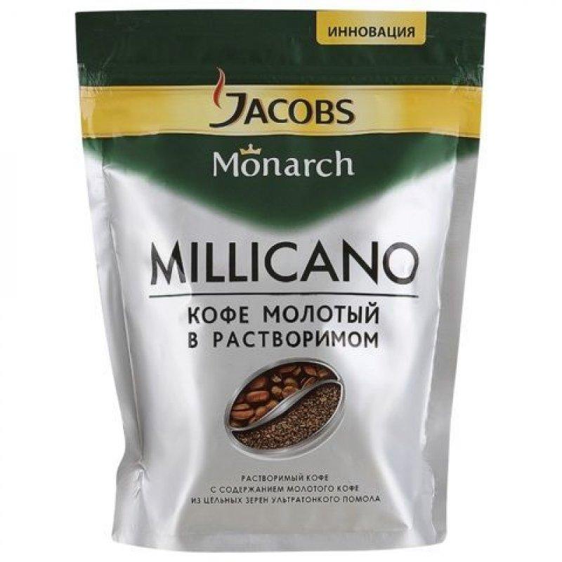 Кофе Jacobs Monarch Millicano растворимый 150г мягкая упаковка