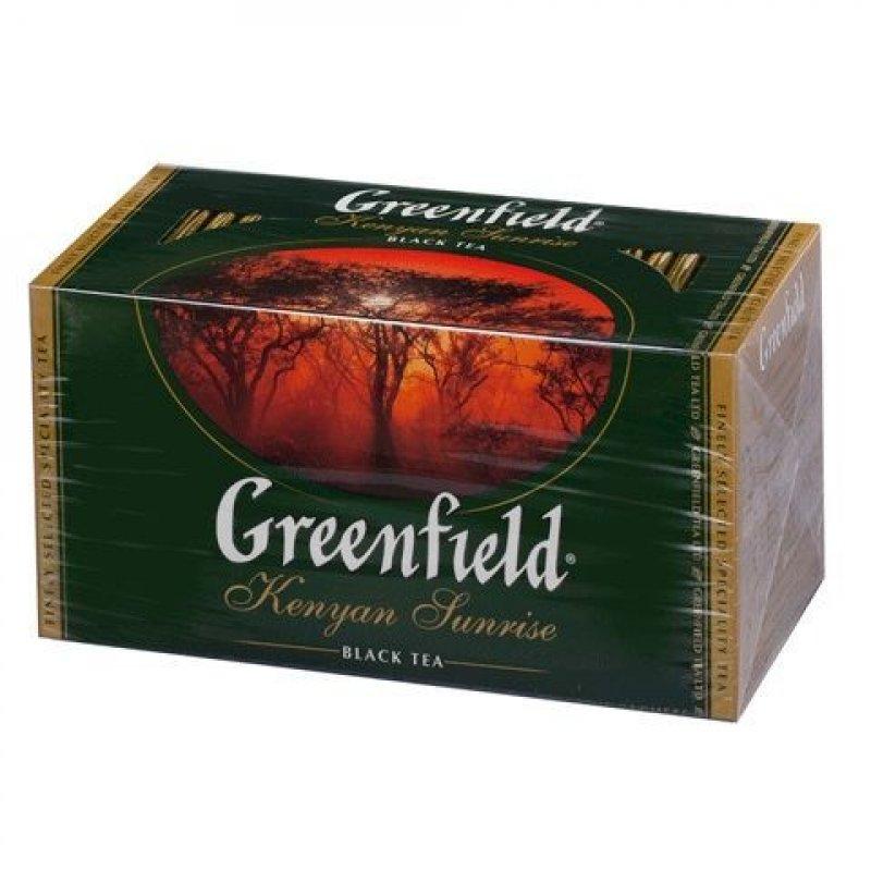 Чай Greenfield Kenyan Sunrise 25шт в пакетиках черный
