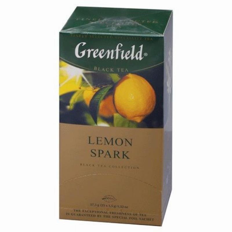 Чай Greenfield Lemon Spark 25шт в пакетиках черный с лимоном