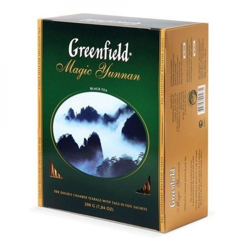 Чай Greenfield Magic Yunnan 100шт в пакетиках черный