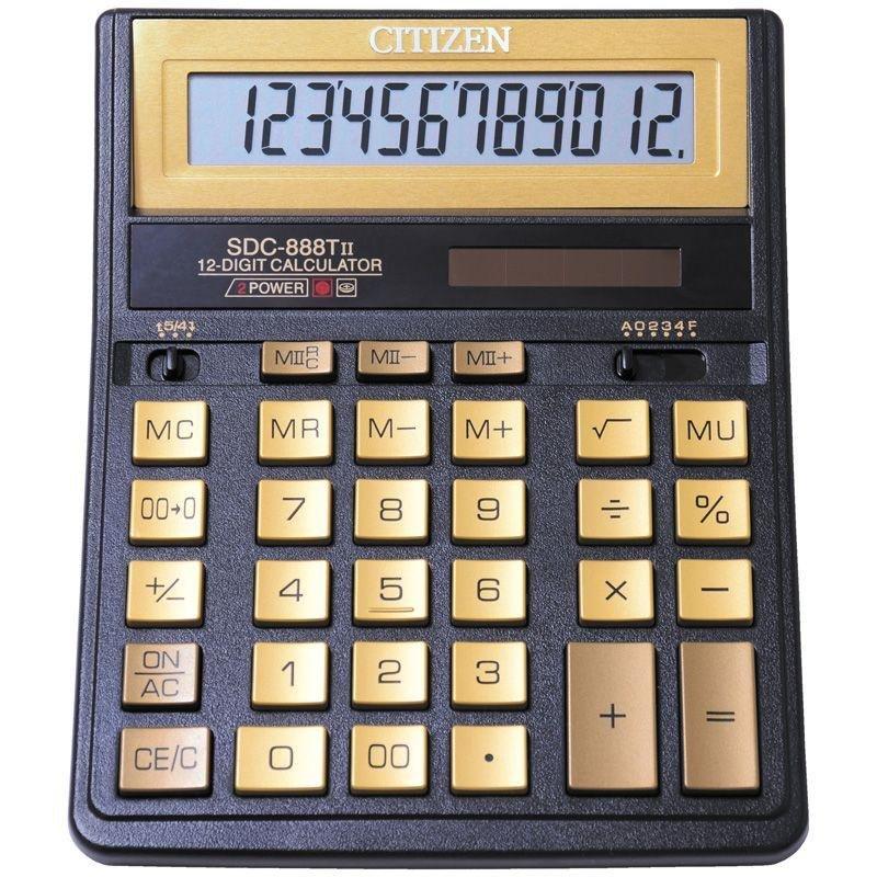 Калькулятор Citizen SDC-888TIIGE 158х203мм 12 разр