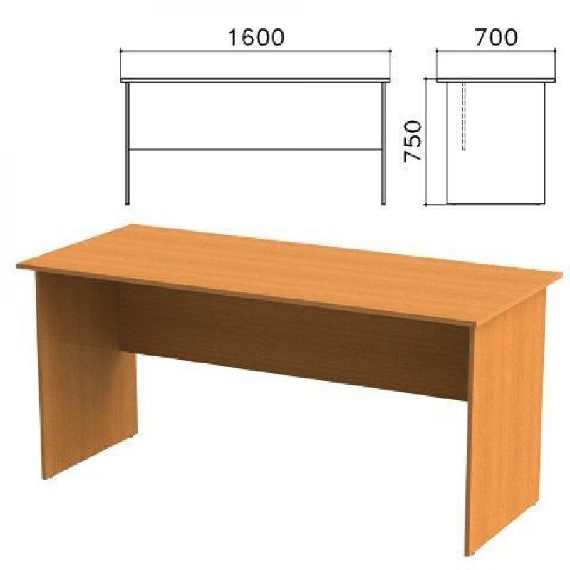 Стол письменный Фея 1600х700х750 мм орех милан
