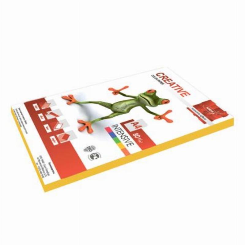 Бумага color А4 80г/м2 100л интенсивно-желтый
