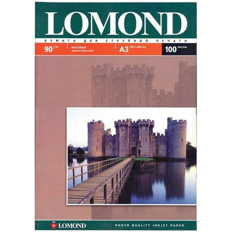 Фотобумага Lomond А3 90г/м2 100л односторонняя матовая