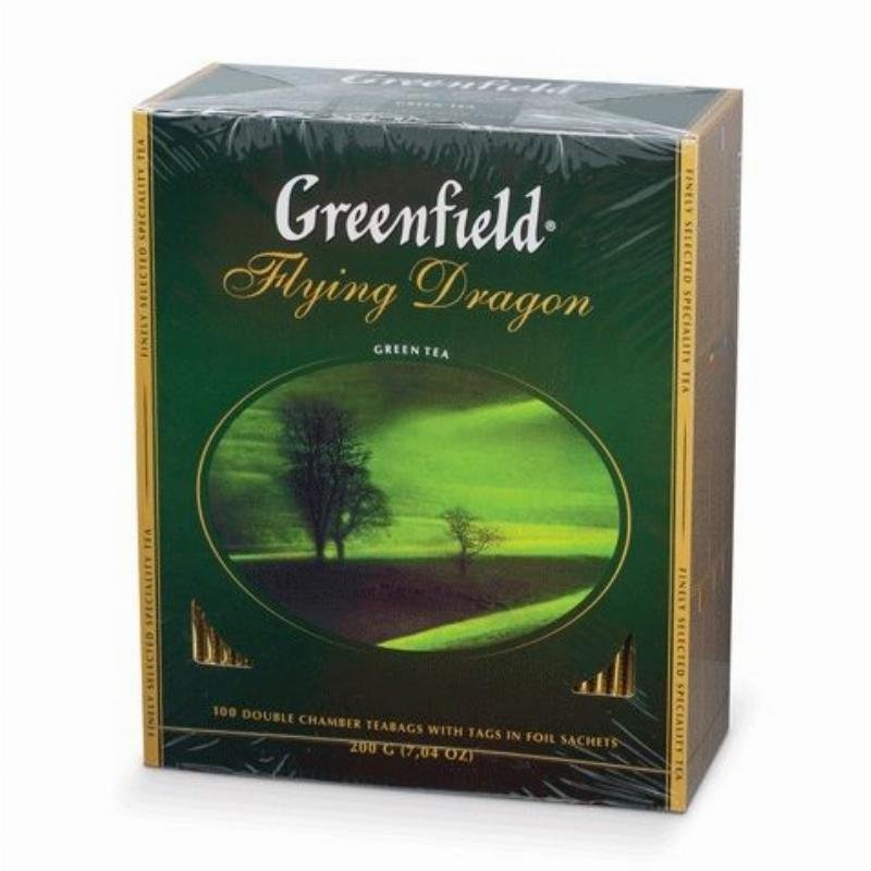 Чай Greenfield Flying Dragon 100шт в пакетиках зеленый