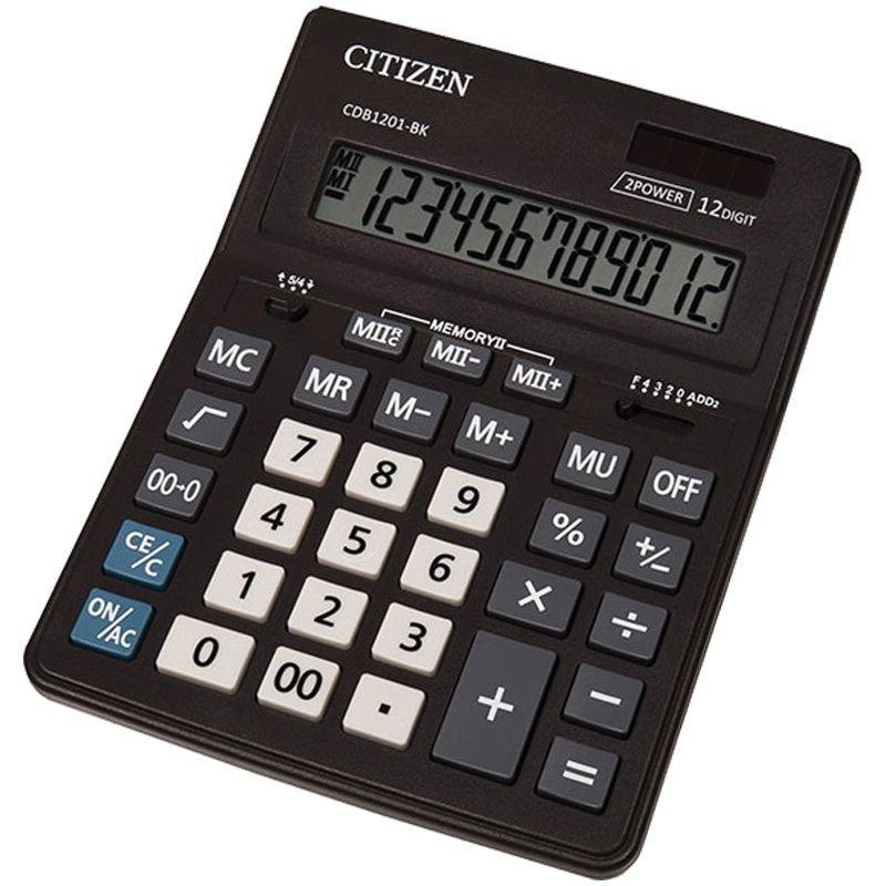 Калькулятор Citizen Business Line CDB 157х200х35мм 12 разр черный