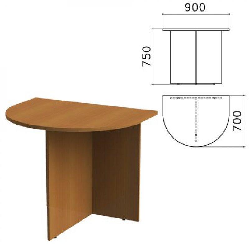 Стол приставной Монолит к столу для переговоров 900х700х750мм орех гварнери