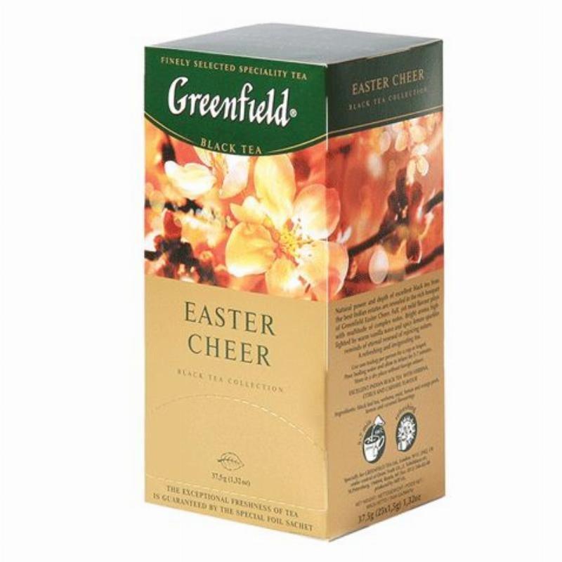 Чай Greenfield Easter cheer 25шт в пакетиках черный лимон карамель