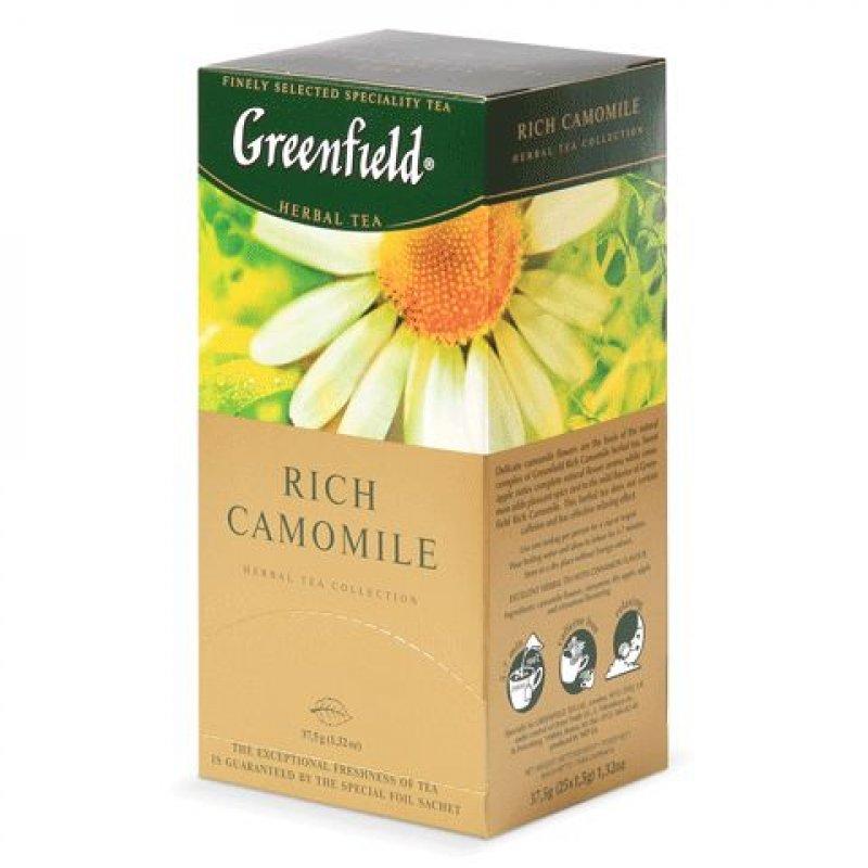 Чай Greenfield Rich Camomile 25шт в пакетиках травяной ромашковый