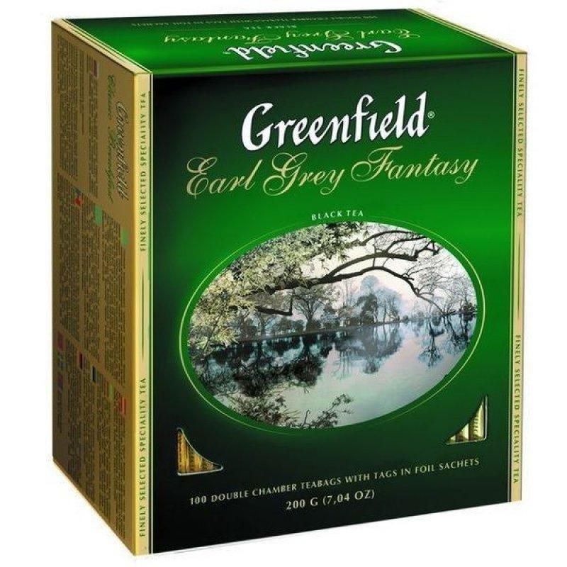 Чай Greenfield Earl Grey Fantasy 100шт в пакетиках черный с бергамотом