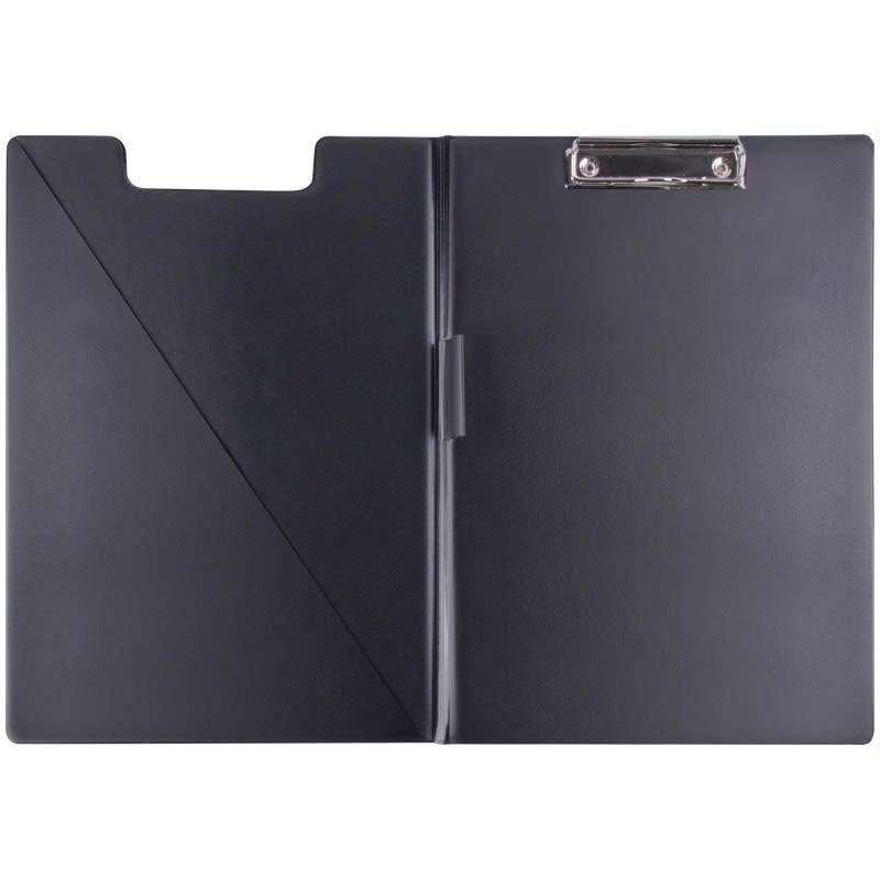 Папка-планшет двойная с верхней крышкой и зажимом Berlingo A4 черная