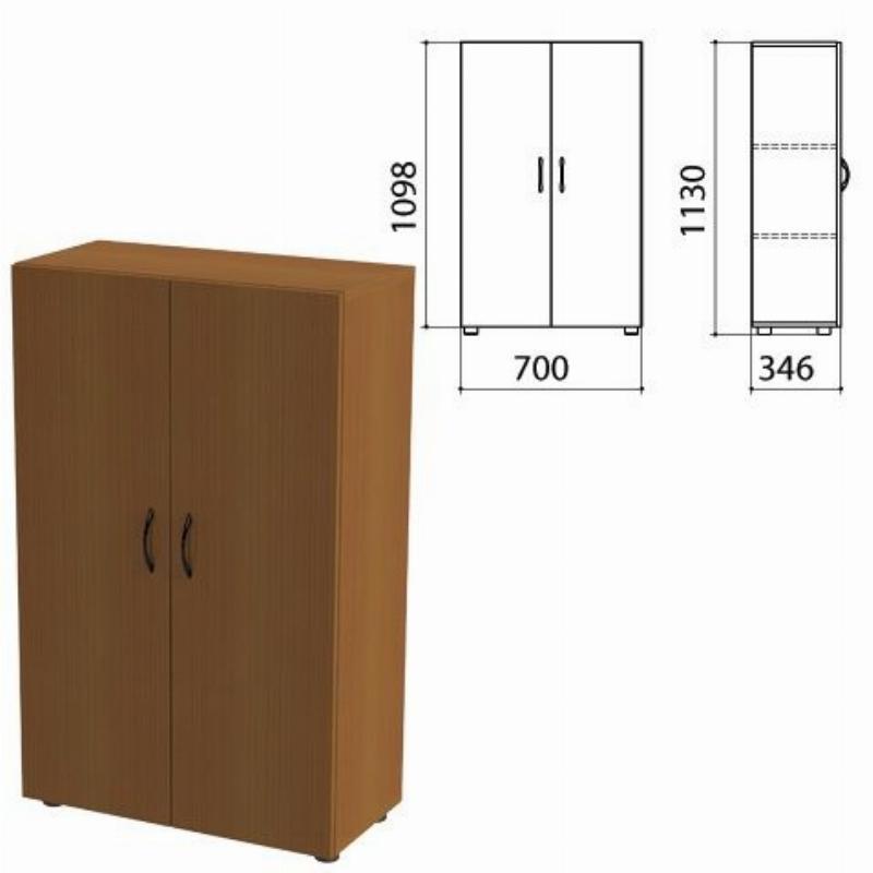 Шкаф закрытый Канц 700х350х1130мм орех