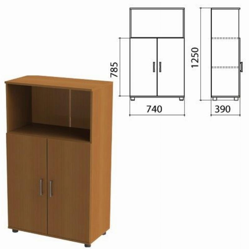 Шкаф полузакрытый Монолит 740х390х1250мм комплект орех
