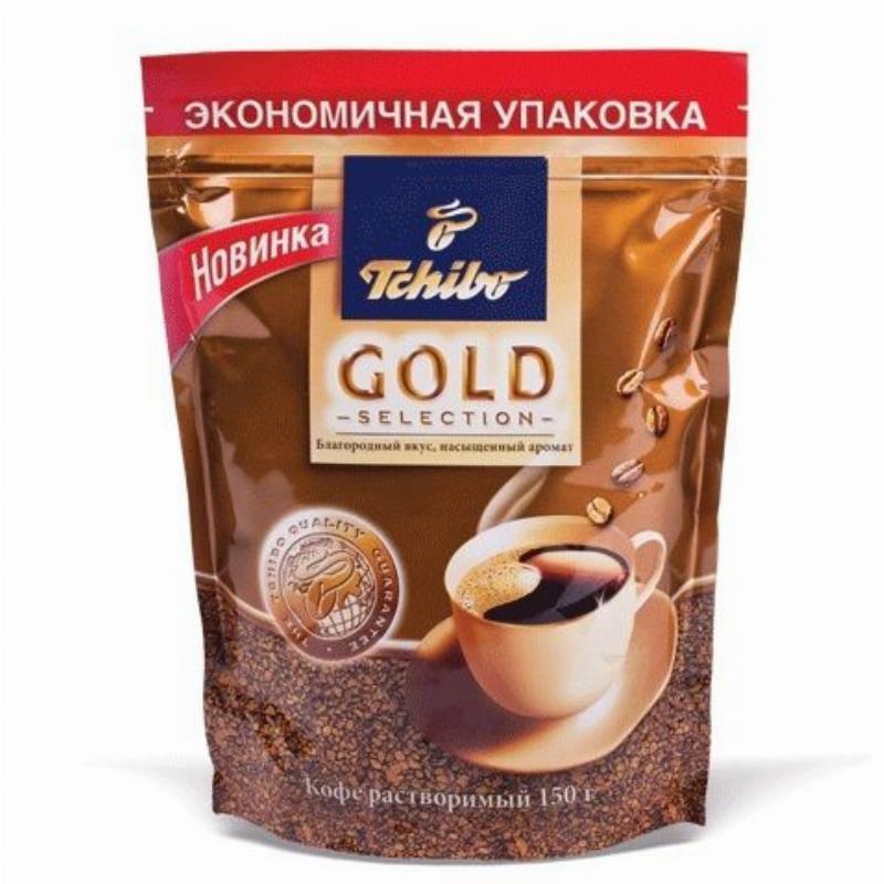 Кофе Tchibo Gold selection сублимированный 150г мягкая упаковка