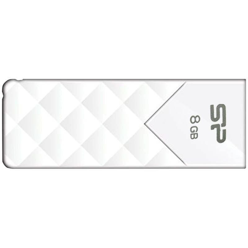 Носитель информации Flash USB 8ГБ SiliconPower Ultima U03 белый