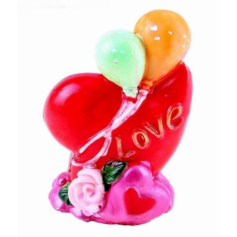 Сувенир Сердце с воздушными шариками