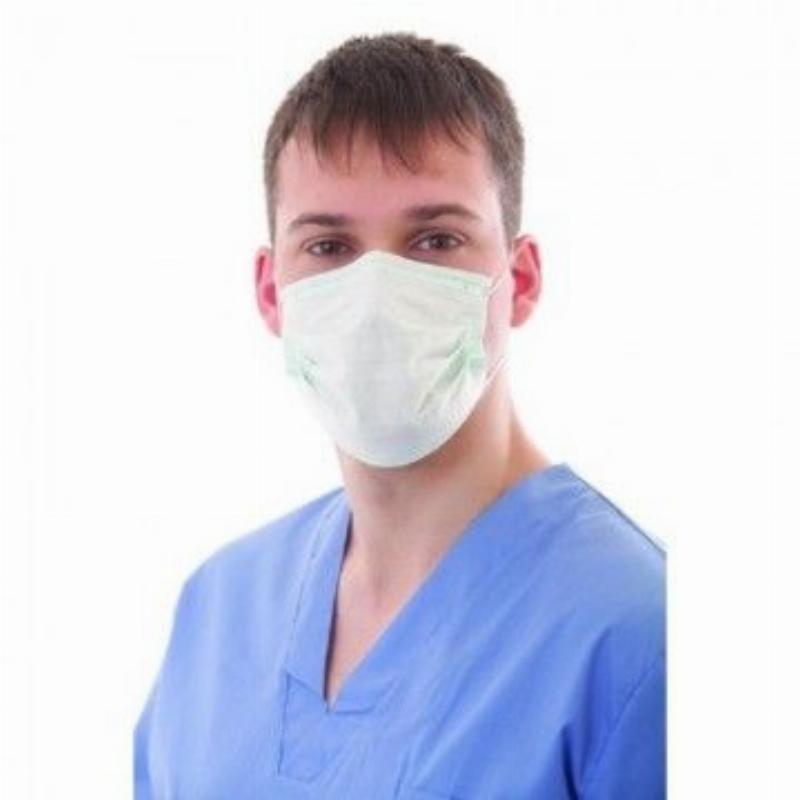 Маски медицинские 3-х слойные на резинке 50шт с нос фиксатором
