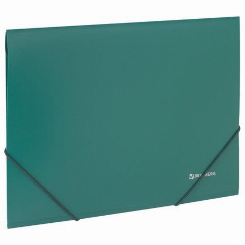 Папка на резинках Brauberg А4 0,5мм зеленая