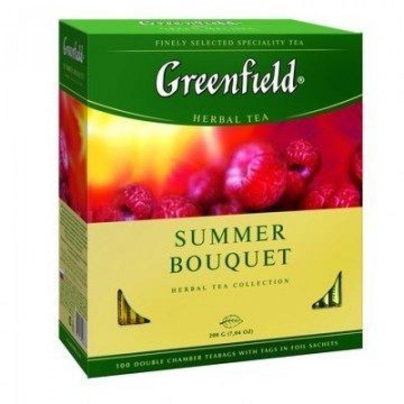 Чай Greenfield Summer Bouquet 100шт в пакетиках фруктовый