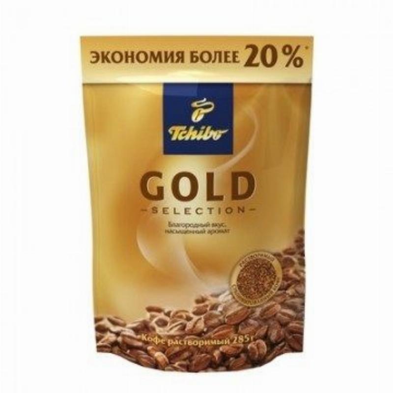 Кофе Tchibo Gold Selection растворимый 285г вакуумная упаковка