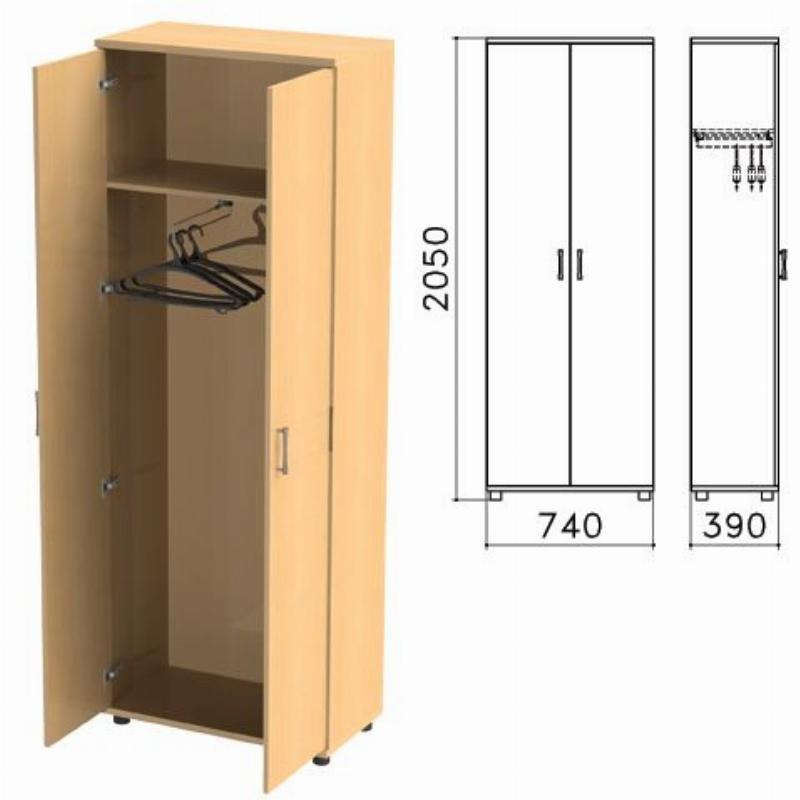 Шкаф для одежды Монолит 740х390х2050мм бук