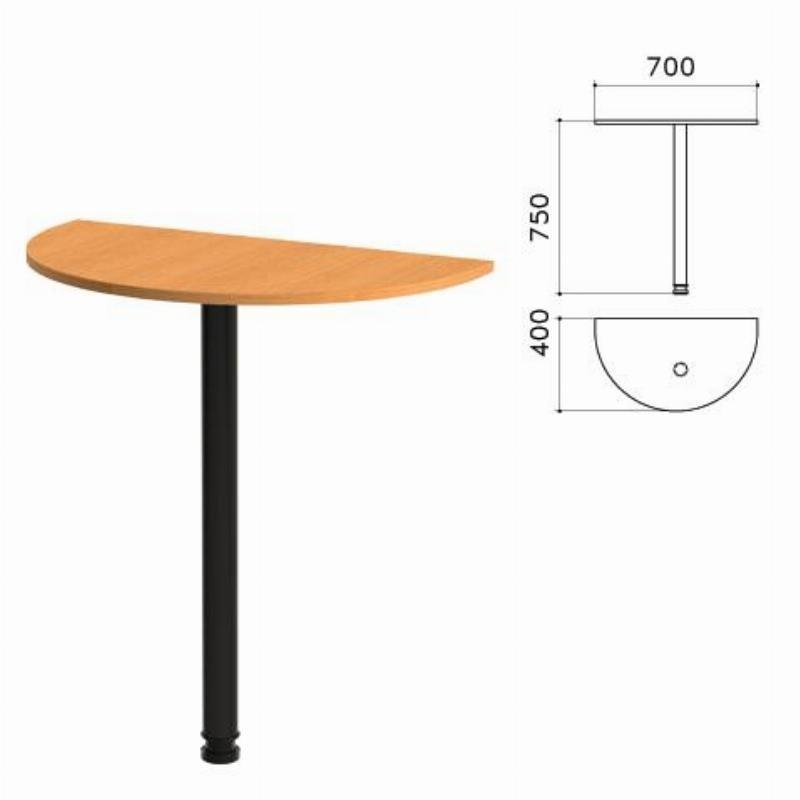 Стол приставной Фея 700х400х750мм орех милан