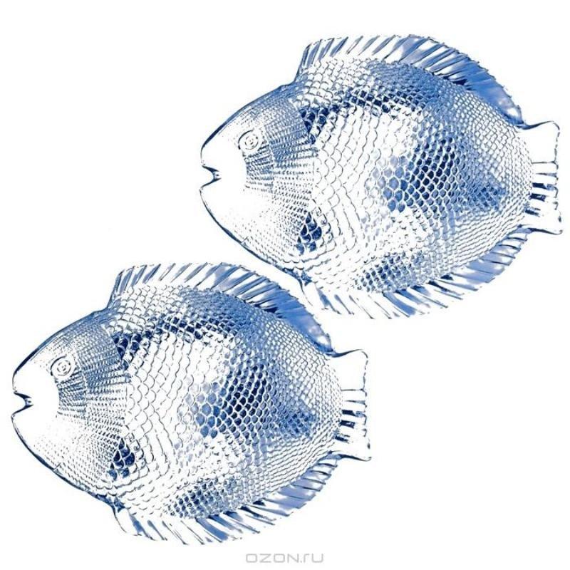 Набор тарелок 260мм Марин Блю Рыба 6шт стекло