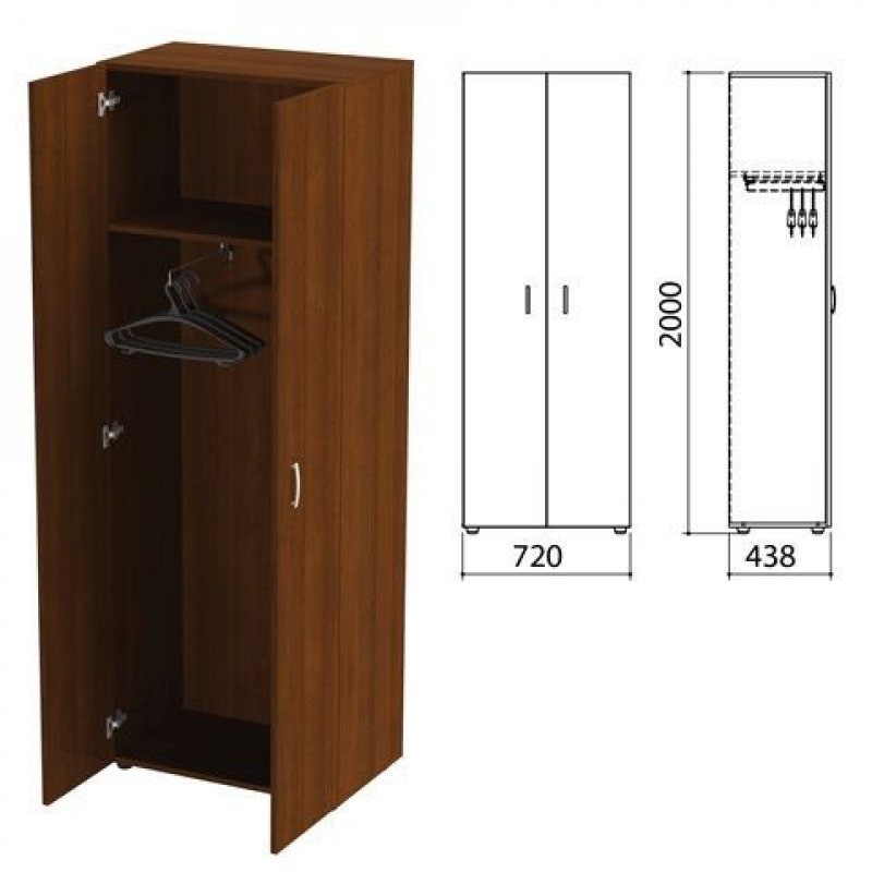 Шкаф для одежды Приоритет 720х438х2000мм ноче милано
