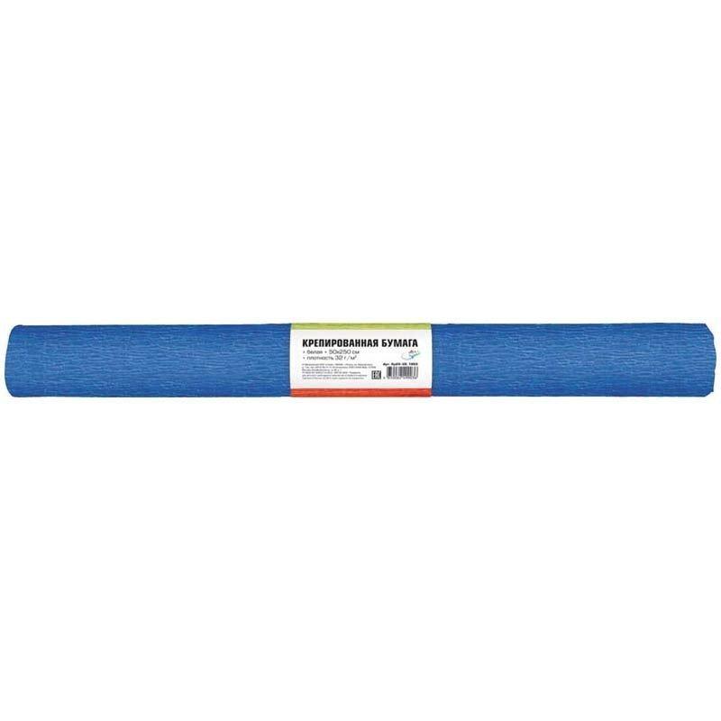 Бумага поделочная креп 50*250см  небесно-голубая в рулоне